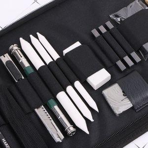 Image 5 - 32 pçs kit artista de desenho profissional lápis esboço de carvão vegetal arte artesanato com saco de transporte conjunto ferramentas pintura suprimentos conjuntos arte