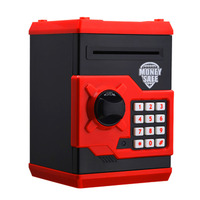New Red Metal Piggy Money Telephone Booth Kids Coin Saving Pot Box Money Saving Box