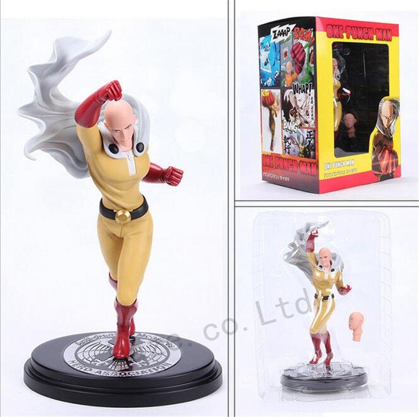 23CM One Punch Man Saitama Hero Association Action Figure Toy Gift With Box 9 one punch man saitama figma 310 pvc action figure collectible model toy