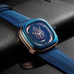 2019 relógios masculinos de luxo nova moda praça relógio de quartzo marca superior kademan casual couro relógios de pulso negócios relogio masculino
