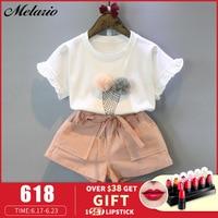 Комплекты одежды для девочек; коллекция 2019 года; летний хлопковый жилет; Детские комплекты без рукавов из двух предметов; Повседневная модн...