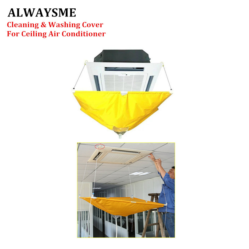 ALWAYSME Ceiling Air Conditioner Full Cleaning Washing Tools Cover Bag With About 1m Length Soft Plastic Tube