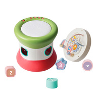 Early Education Hand Drums Toys Combination Set Music Beaded Blocks J71