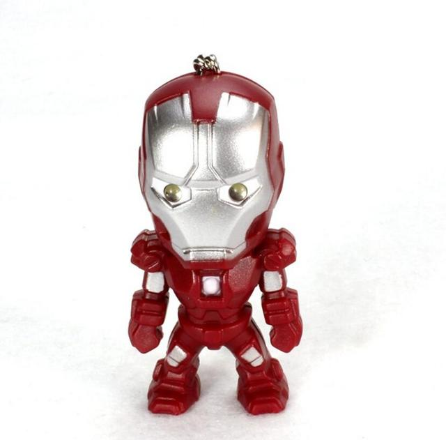 Iron Man Mini Figure with Sound and Light Keychain 2.4 Inches 2