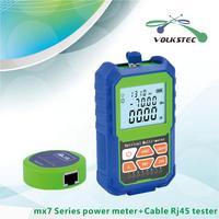 Мини волоконно-оптический измеритель мощности mx7A-70 ~ + 3dBm с RJ45 Кабельный тестер светодиодный свет
