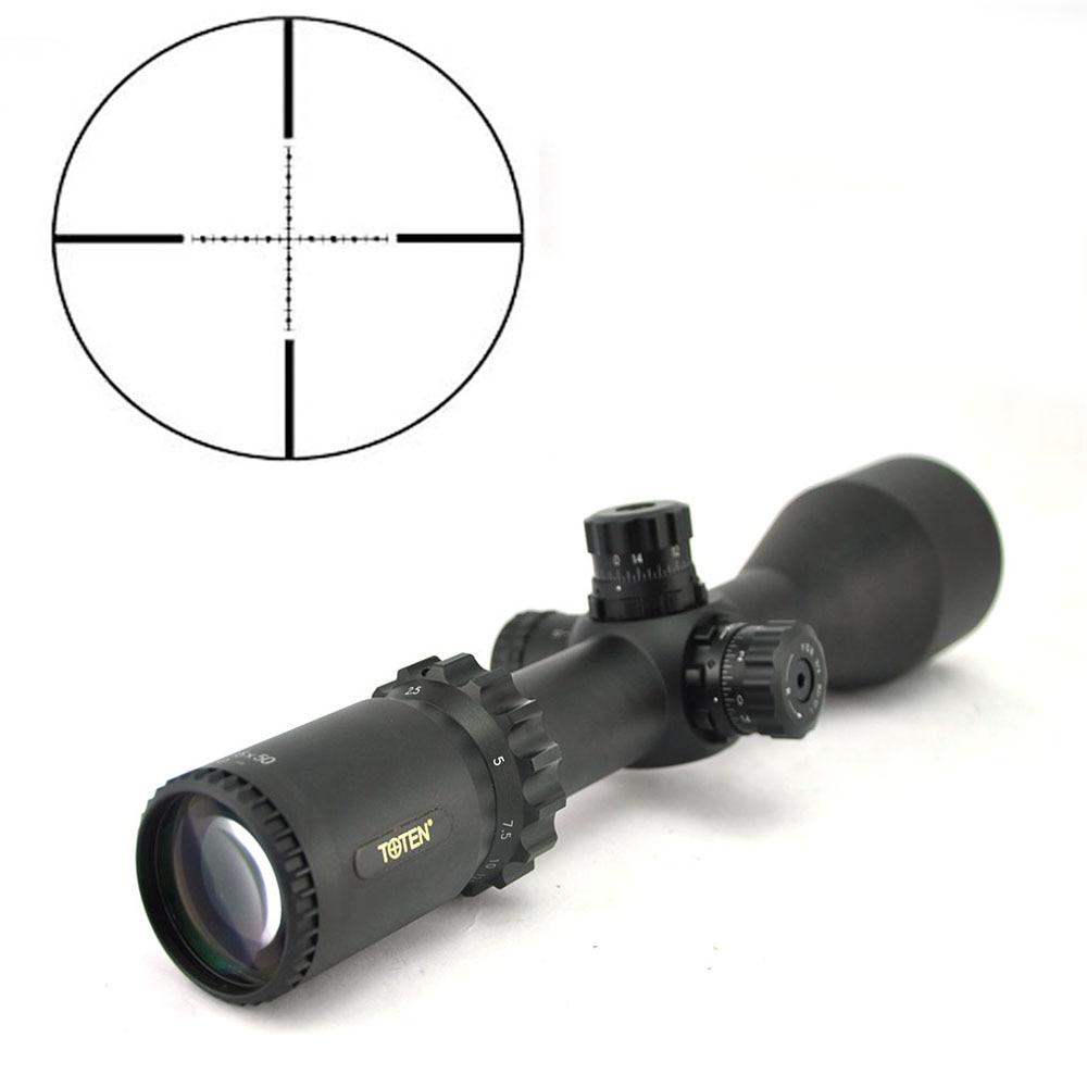 TOTEN 2.5 15x50 Hunting Riflescope First Focal Plane Tactical Long Range FFP Optical Sight High Quality Aim For .308 AR15 Aim