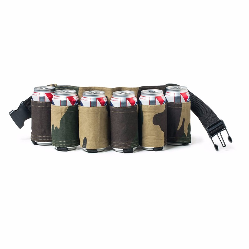 Image 5 - Outdoor Climbing Camping Hiking 6 Pack Holster Portable Bottle Waist Beer Belt Bag Handy Wine Bottles Beverage Can Holder-in Storage Bags from Home & Garden