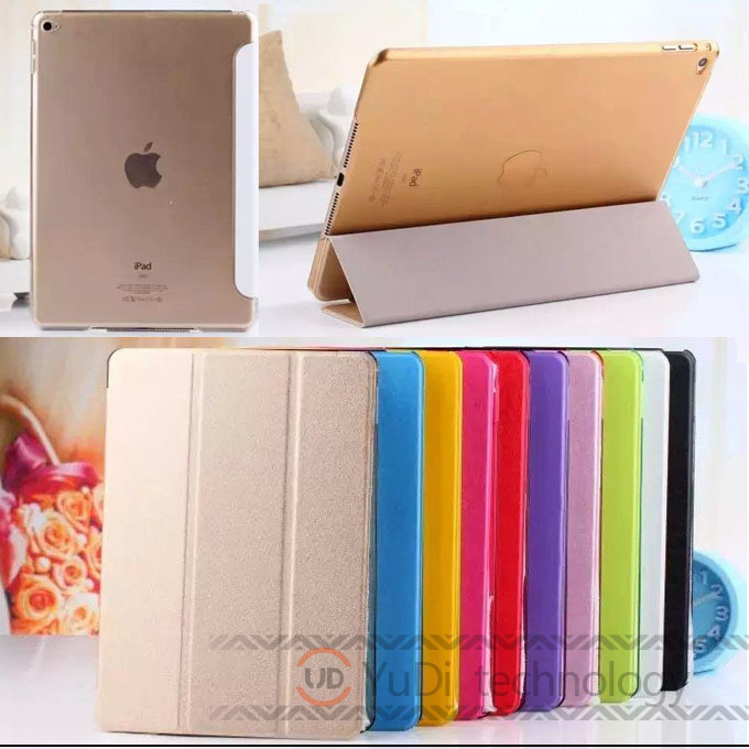 PU Leather Front Smart Cover cases + Crystal Hard Back Case For New Apple iPad Air 2 Multi-Color for ipad 6 air 2 cover