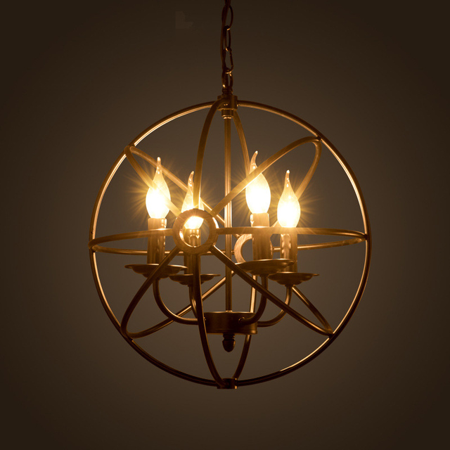 New E14 Arrival Nordic Cage Pendant Lamp Abstract Wrought Iron Pendant Lights Candle 4 Light  Source ,EMS  free shipping