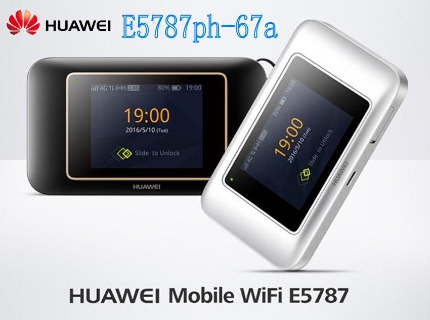 Unlocked Huawei E5787 E5787Ph 67a LTE Cat6 300Mbps plus 4g Antenna Mobile WiFi Hotspot 3000mAh Battery LTE 4G Portable Router