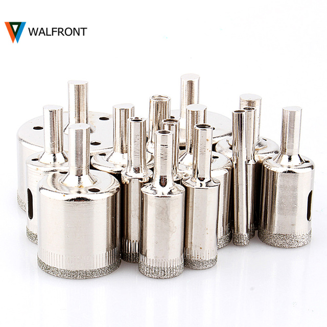 6-50mm Diamond Coated Core Drill Bit Tile Marble Glass Ceramic Hole Saw Tools Set Diamond Countersink broca diamante para vidro