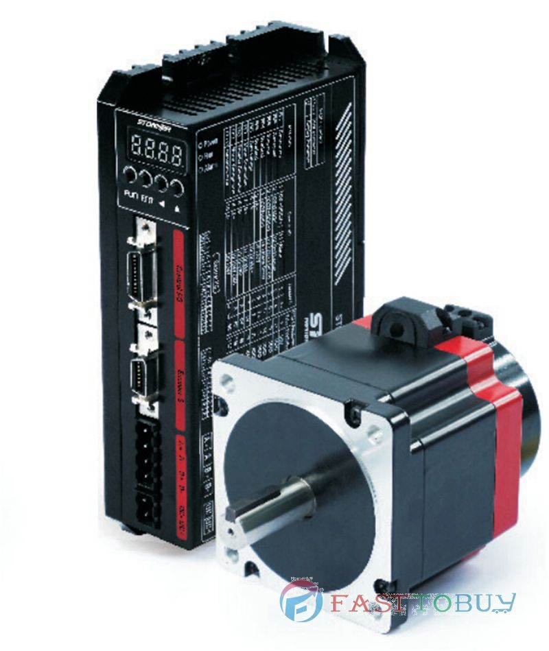 NEMA34 86mm 9NM Closed-Loop Stepper Motor Drive kits 2 Phase 40~70VDC 5.6A with Encoder 10000P/R 86SMB-HA+86SDB-H toothed belt drive motorized stepper motor precision guide rail manufacturer guideway