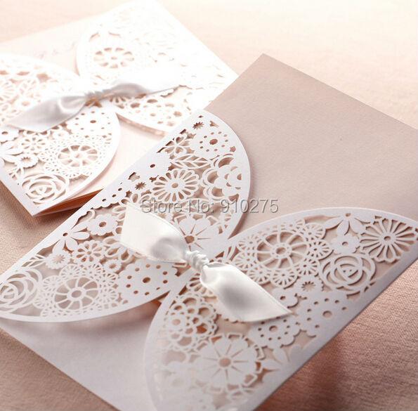 Free dhl 100pcslot elegant laser cut lace with bow hollow out free dhl 100pcslot elegant laser cut lace with bow hollow out flowers wedding invitation stopboris Gallery