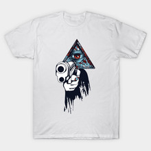 Illuminati Occult Fiction short Sleeve Slim Fit T Shirt Men Summer Fashion and women cotton cmt  Classic