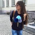 2016 New Russia Autumn Winter fashion Sweatshirts Women Fashion 3D ice cream print long-sleeve O-Neck Pullovers Women Sweatshirt