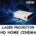 Ultra Brillante Proyectores Full HD 1080 P 3D Proyector Láser LED 4500 Lúmenes Android Wifi Bluetooth con USB HDMI para el películas