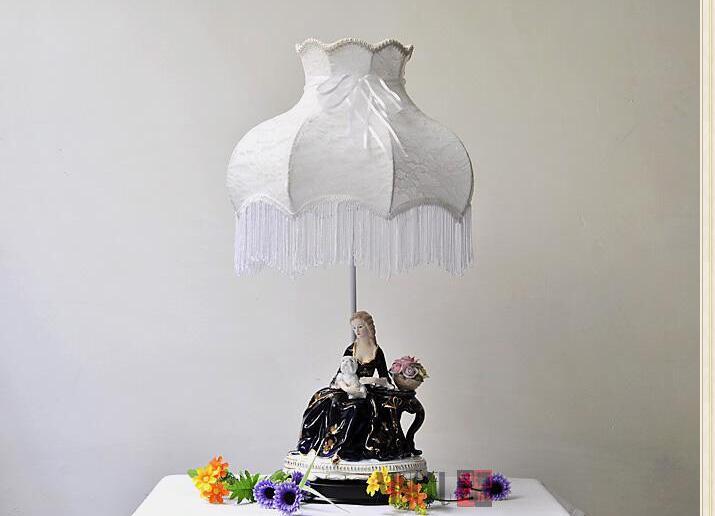 Европейский пастырской керамические декоративные лампы. Спальня ночники. Свадебный подарок lamp010
