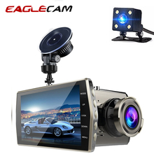 Dash Cam Full HD 1080P 4 IPS Car DVR Vehicle Camera Front+Rear Dual Lens Night Vision Video Recorder G-sensor Parking Monitor цена