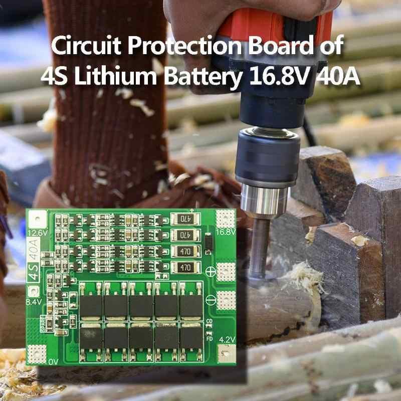 4S 16.8V 40A Li-ion Pin Li-Po 18650 26650 Bảo Vệ Bộ Sạc Ban Thăng Bằng