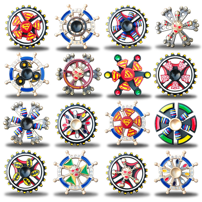 Double Bearing  Hand Spinner Fidget Zinc Alloy Metal Fidget Spinner Metal Bearing Edc Finger Spinner Hand Relieves Stress