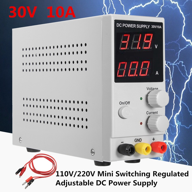 110V/220V Voltage Regulators Mini Switching Regulated Adjustable DC Power Supply 0~30V 0~10A With Output and PowerCable sw3010d mini digital dc regulator adjustable power supplier 30v 10a 110v 220v voltage switching power supply digital power