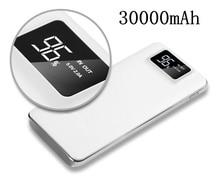 Power Bank 30000 mAh для Xiaomi Mi 2 USB power Bank портативное зарядное устройство Внешняя батарея повербанк для iPhone 7 6 5 4X8
