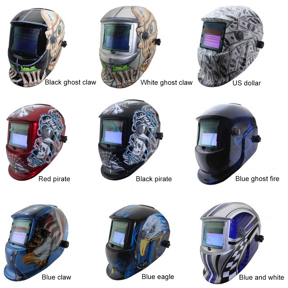 Welding Mask Protective Solar Welding Helmet Automatic Photoelectric Multi-pattern Protective Head Eye Protection Screen Tool