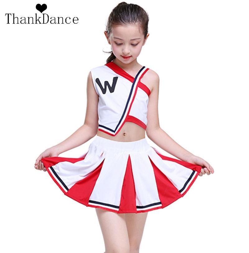 Girl Cheerleader Uniforms Children Cheer Team Suits Girls Cheerleading Uniforms G Calisthenics Suit Student Competition Suit