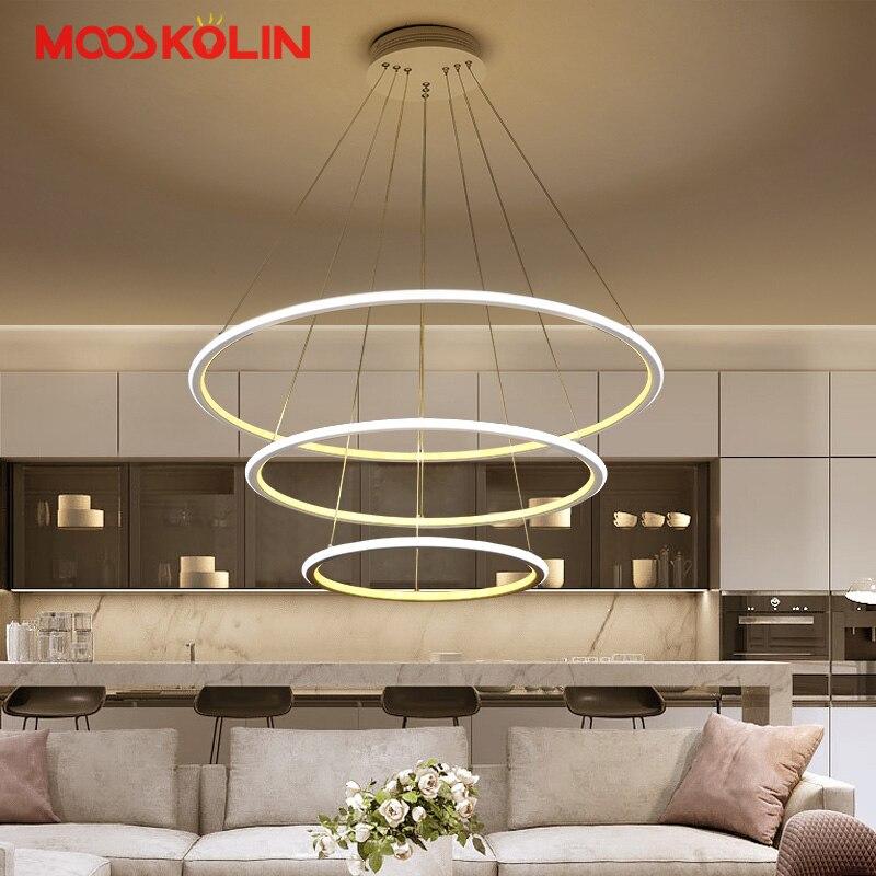 Modern LED living room dining room pendant lights suspension luminaire suspendu led ring lighting lamp fixture de techo colgante