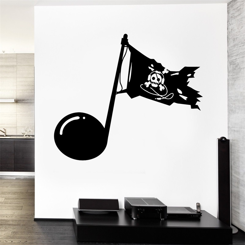 Wall Vinyl Music Pirates Download Guaranteed Quality Decal ...