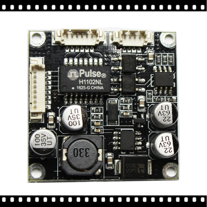 Placa de módulo PoE de 48V pcb para cámaras IP potencia sobre Ethernet 12V 1A cámara de red CCTV de seguridad compatible con IEEE802.3af|pcb board|pcb 12vpcb module -
