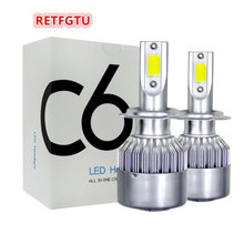 RETFGTU Car LED Bulbs  H8 H9 880 9005 9006 C6 Light H1 H3 H4 H7 9003 HB2 H11 H13 9004 9007 Auto Headlights 12V