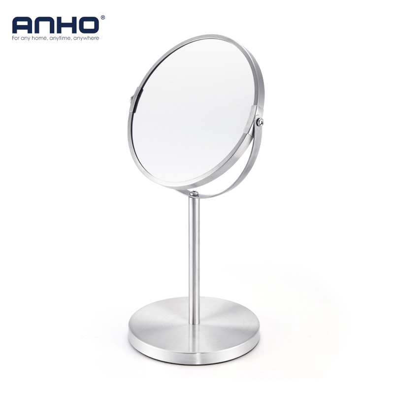 7 Inch 3X Magnification Makeup Mirror Dual Side Round Shape Circular Rotating Desk Stand Mirror Make Up Cosmetic Mirrors Tools