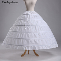 Plus Size Underwear Crinoline White Organza 6 Hoop Petticoat For Ball Gown Dress Wedding Accessories Wedding