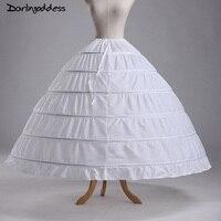 Plus Size Underwear Crinoline White Organza 6 Hoop Petticoat For Ball Gown Dress Wedding Accessories Wedding
