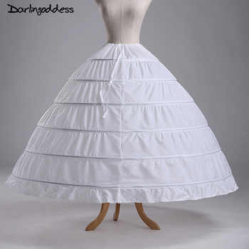 2017 High Quality Cheap White 6 Hoops Petticoats Plus Size Organza For Ball Gown Wedding Dresses Crinoline Underskirt In Stock - DISCOUNT ITEM  0% OFF All Category