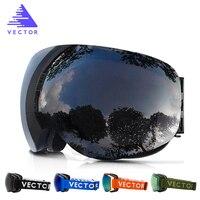 New Ski Goggles Big Double Lens UV400 Anti Fog Ski Mask Glasses Skiing Professional Men Women
