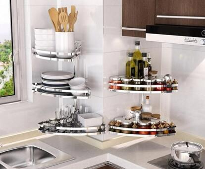 High-end three-storey 304 stainless steel bowl rack Lek racks Kitchen plate racks to put the dishes out of the drain021 waugh e put out more flags