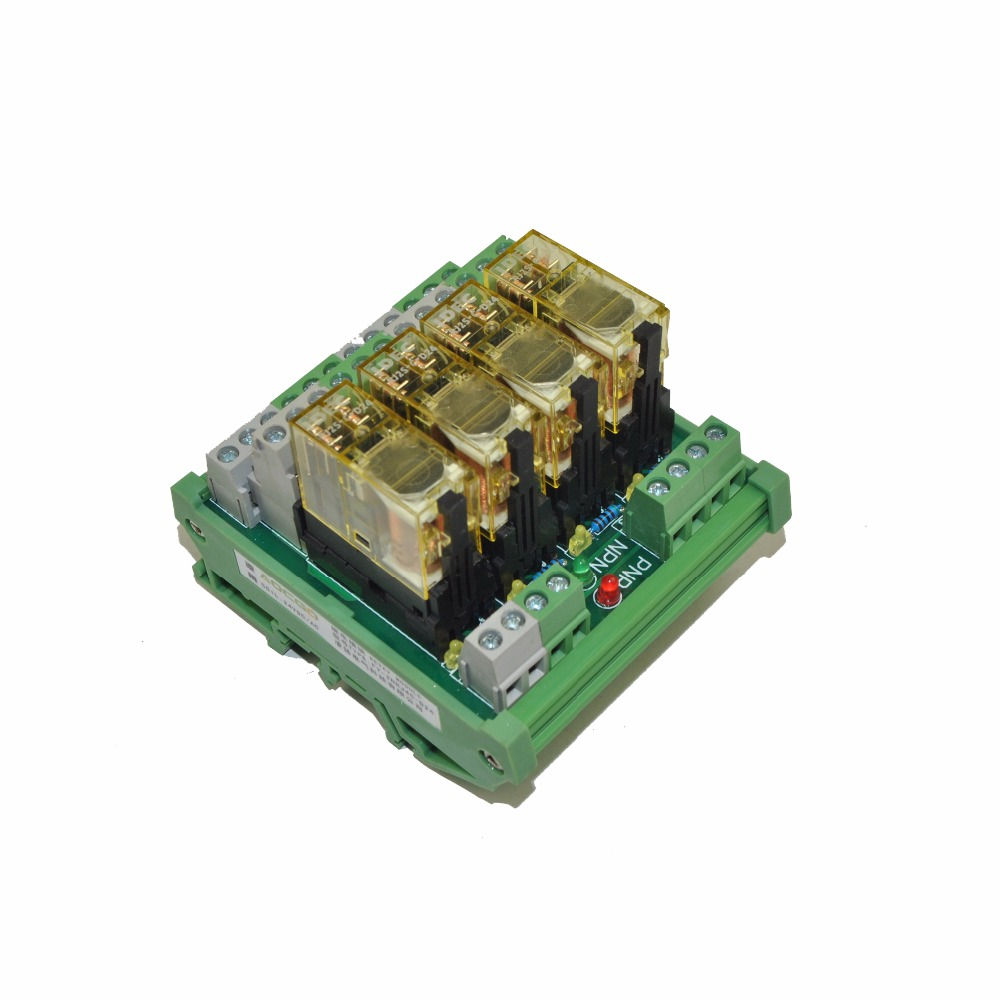 4 Channel Dpdt Din Rail Mount Idec Rj2s 220vac Interface Relay Wiring Module In Relays From Home Improvement On Alibaba Group