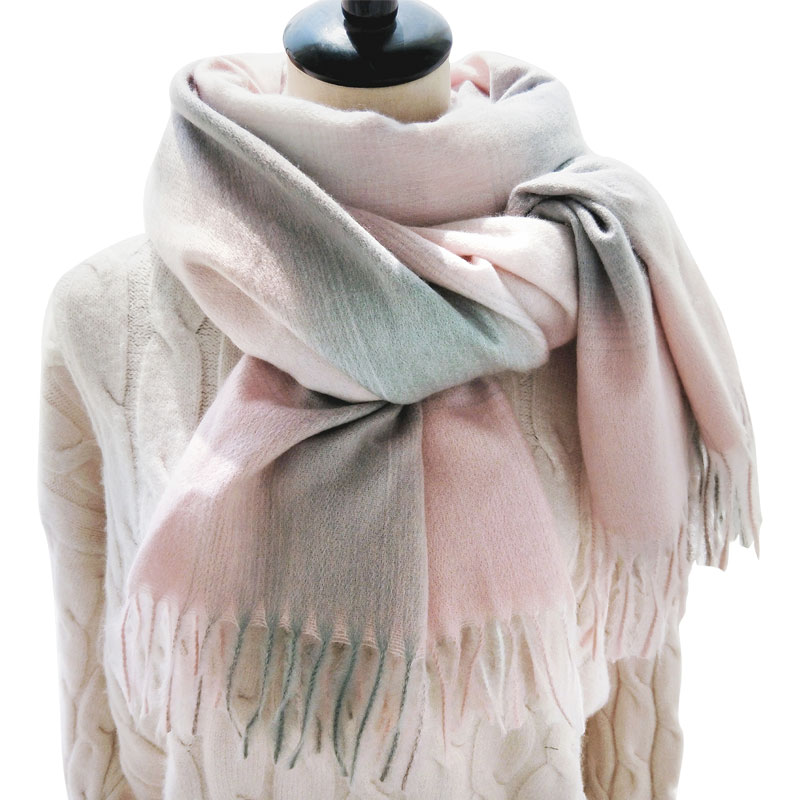 2018 Fashion Winter   Scarf   Women Luxury Brand   Scarves   Shawl For Girls Gradient Color Black Pink Femal   Scarves     Wraps   Gradient