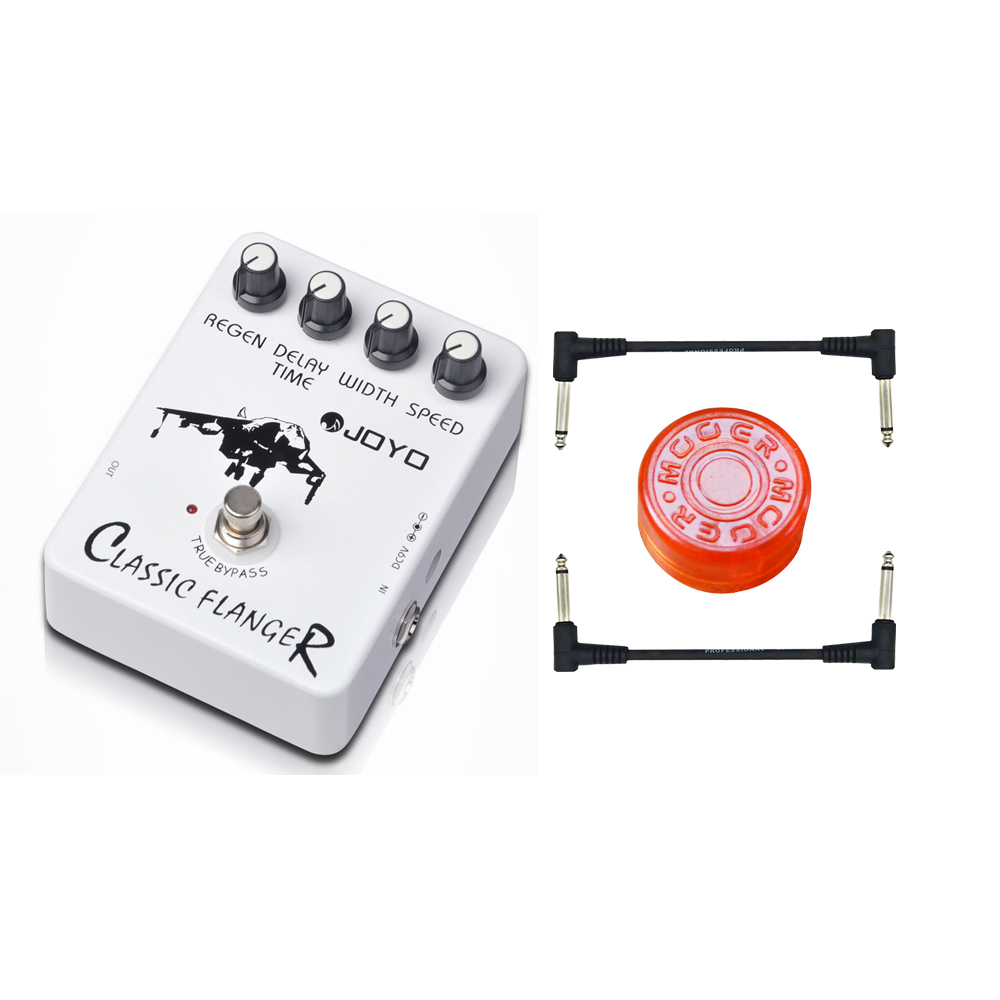 Joyo JF-07 Classic Flanger Guitar Effect Pedal with True Bypass Design for Musical Instrument Top Quality Wholesale Price joyo guitar effects pedals jf 32 hot plexi true bypass design wholesale cheap 1 pc pedal connector free shipping