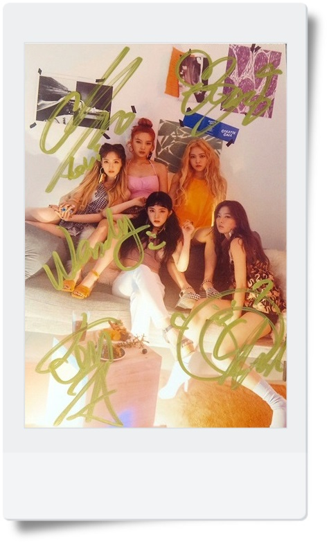 signed  KPOP RED VELVET  autographed group photo THE RED SUMMBER  6 inches freeshipping 072017 signed jang keun suk autographed original photo 6 inches kpop freeshipping 08201701