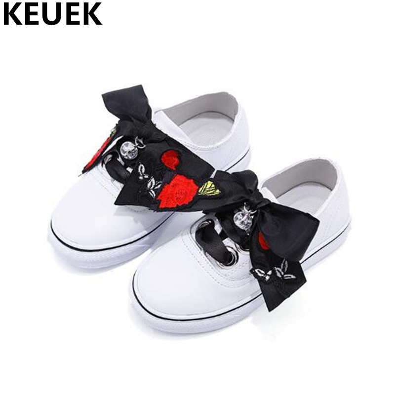 New Spring Sports Shoes Children Slip-On Loafers Girls Genuine Leather White Casual Sneakers Flats Black Kids Leather Shoes 03 claladoudou spring autumn children sneakers genuine leather red girls running shoes waterproof comfortable boys walking shoe kid