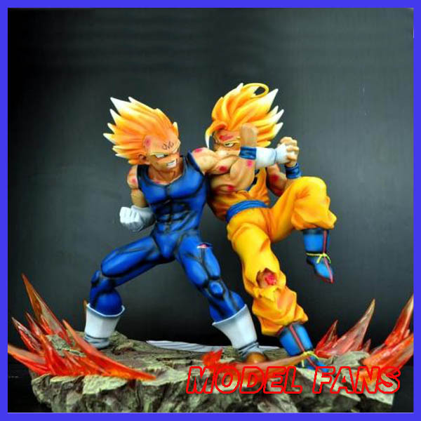 MODEL FANS Dragon Ball GK The Same Paragraph VKH Evil Vegeta VS Super Saiyan Goku Spot Resin Scene Very Rare Action Figure In Toy Figures From Toys