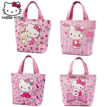 Hello Kitty Cartoon Bag Plush Wallet Handmade Lovely Girls Shopping HandBag Nylon Portable School Travel