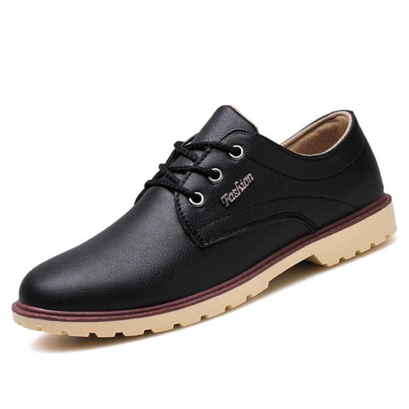 2019 Autumn Men's Leather Shoes casual