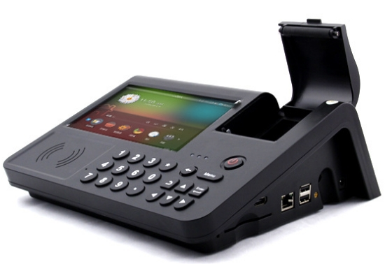 NFC MSR PSAM barcode camera fingerprint scanner IC credit card reader built in Andorid terminal Tablet pc