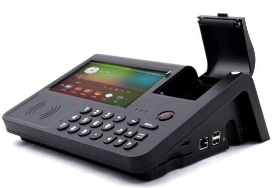 Lecteur d'empreinte digitale de caméra de code barres de NFC MSR PSAM lecteur de carte de crédit d'ic intégré dans la tablette pc de terminal d'andorid