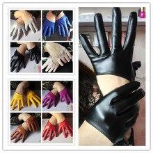 Новое поступление, женские перчатки из искусственной кожи pu на полный палец, перчатки из искусственной кожи, сексуальные мотоциклетные перчатки, женские перчатки для вождения