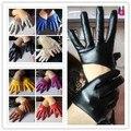 Женские Мотоциклетные Перчатки из искусственной кожи, полпальца, полуперчатки из искусственной кожи, сексуальные перчатки для вождения